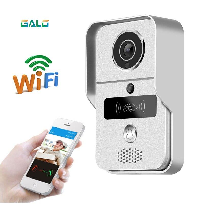 720P TCP IP WiFi Video Doorbell Support Wireless Unlock IOS Android APP Control Metal body exquisite
