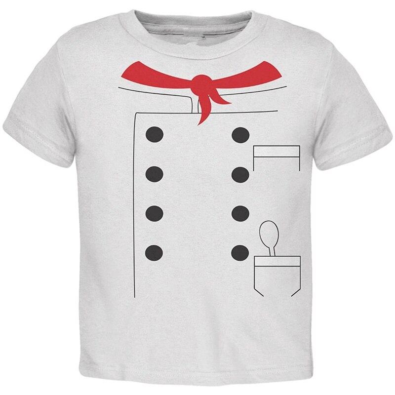 Cotton Cool Design 3D Tee Shirts Premium Crew Neck Short Sleeve Halloween Chef Costume Toddler Mens Tee Shirts