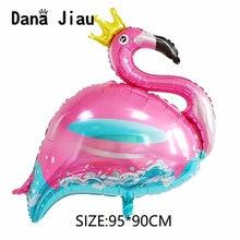 Foil-Balloon Ball-Supplier Wedding-Decoration Pink Flamingo Happy-Birthday-Party Golden