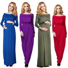 New Solid maternity dresses summer casual comfortable Women Pregnant Dress Brief Cotton pregnancy Beach Long Maxi dress 5 Colors