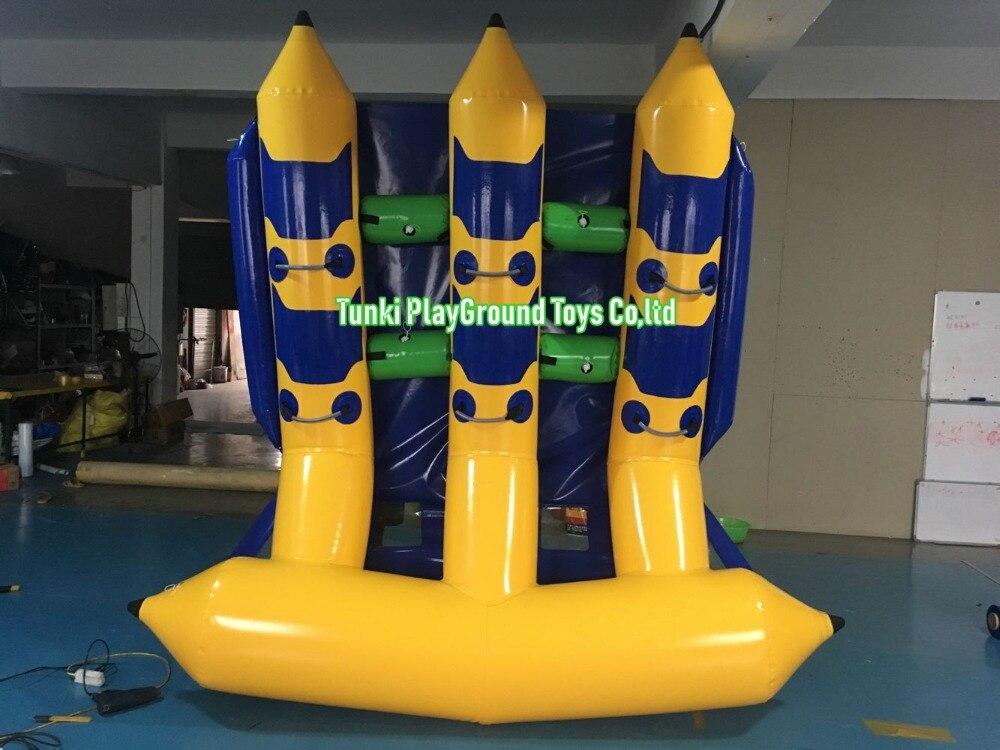 6 sièges de qualité de l'eau bateau décontracté bateau banane bateau gonflable bateaux d'assaut tombola-livraison gratuite poisson-mouche