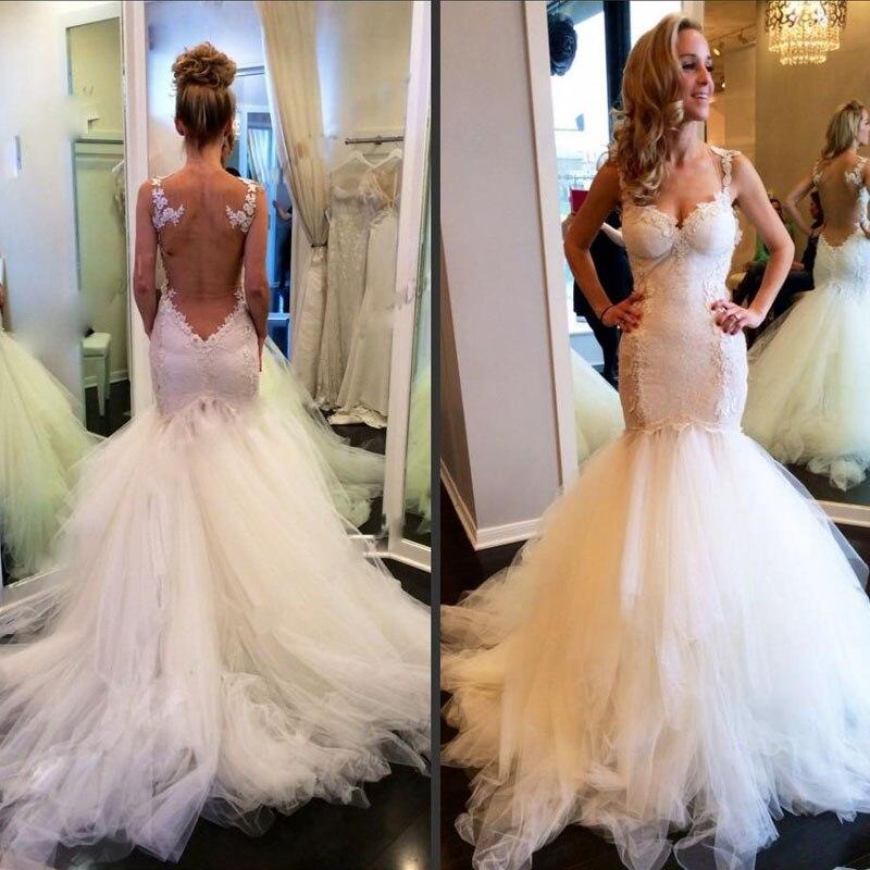 Vintage Lace Mermaid Backless Wedding Dresses Sheer Bolero Sweetheart Puffy Bridal Dress Gowns 2017 Vestidos De Novia In From