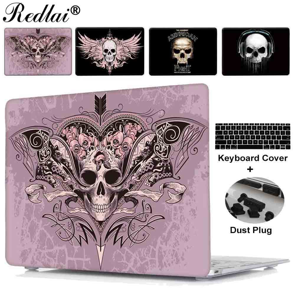 Case For Macbook Air 11 13 new 12 inch Cover Fantasy Skull Print Plastic Hard Case For Mac Book Pro 13 15 Touch bar Retina 13