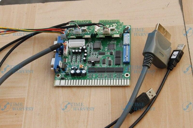 Carte de conversion VGA X-360 avec disque de jeu/console USB à connecteur Jamma/convertisseur de jeux de combat pour machine de jeu LCD