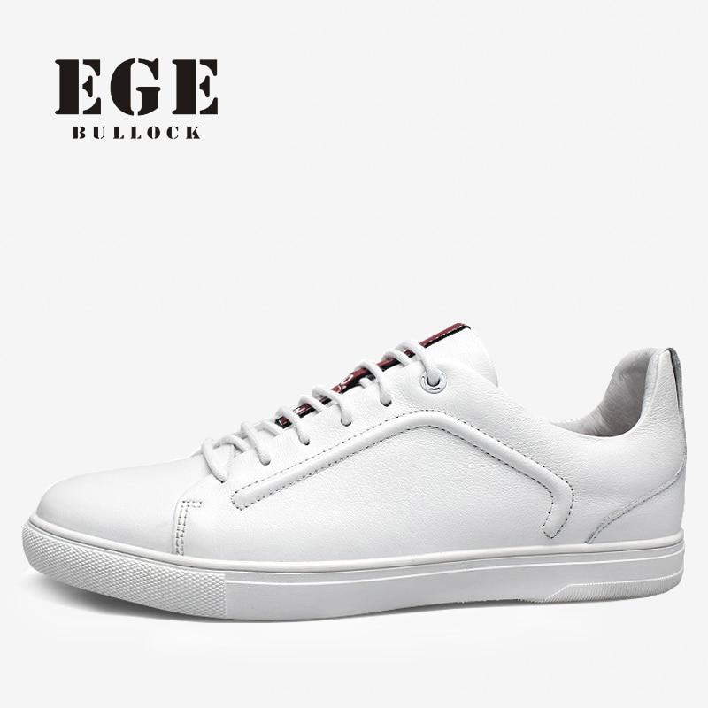 6921e339f جلد طبيعي الرجال سببية الأحذية أعلى جودة الدانتيل متابعة ربيع جديد ذكر الشقق  الترفيه الأحذية الجلدية البيضاء الناعمة ل الرجال