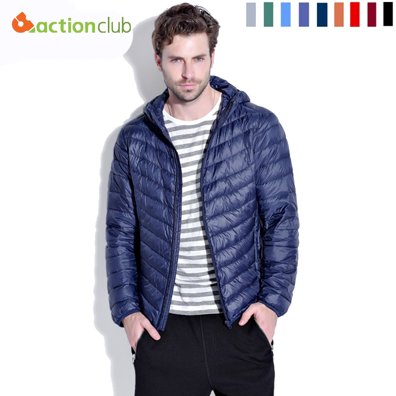 e22c1125c3e New Arrival Men Fall/Winter White Duck Down Jacket 9 Colors Ultra Light  Fashion Travel Pocketable Portable Wram Coats Outerwear-in Down Jackets  from Men's ...