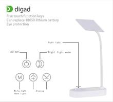 купить New 3W 40pc LED Desk Lamp Bending Freely Dimmable Rotatable Eye Care LED Touch-Sensitive Controller USB Charging Port Table Lamp по цене 992.58 рублей