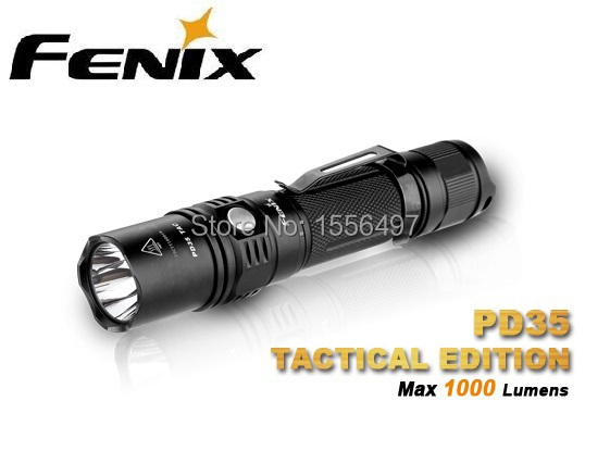 цена Free Shipping Fenix PD35 TAC 1000 Lumens PD35 TAC Cree XP-L LED Flashlights Tactical +Outdoor