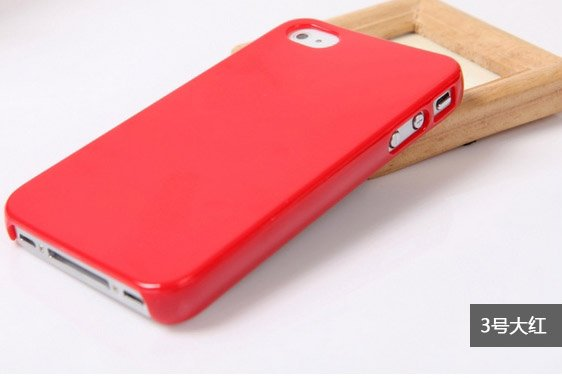 free shipping Blank  colorful cell phone case for iPhone 4 / 4s for using directly or DIY Findings(random color 10PCS)