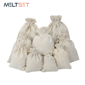 цена на 50pcs/lot Linen Drawstring Jewelry Storage Bag Small Food Storage Bag Package Pouch Kitchen Sundries Tea Candy Nuts Storage Bag