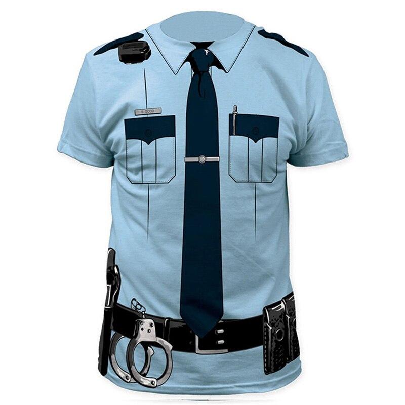 Männer Pilot Polizei 3D T-shirt Arzt Gentleman Erwachsene Lustige Party Cop Punpkin Pirate Sailor Weihnachtsmann Karneval Cosplay Kleidung