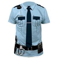 Men Pilot Police 3D T Shirt Doctor Gentleman Adult Funny Party Cop Punpkin Pirate Sailor Santa