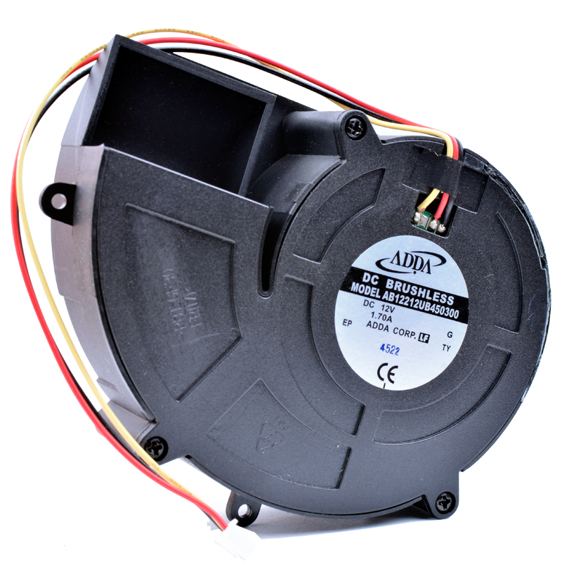 Brand new original AB12212UB450300 12V 1.70A Double ball high air volume centrifugal turbine blower cooling fan free shipping new original sanyo 9bam24p2g17 dc24v 0 9a 97 33mm 9cm large wind blower cooling fan