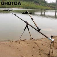 Angelrute Halter Einstellbare Aluminium 1,5 M 1,7 M 2,1 M Stange Pole Halter Halterung mit Unterstützung Zweibein
