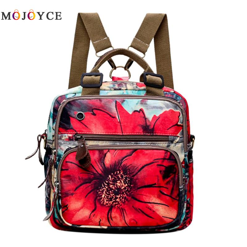 Chinese Style Women Retro Flowers Print Shoulder Backpack Muti-Pocket Zipper Travel Large Capacity Moms Storage Back Pack Chinese Style Women Retro Flowers Print Shoulder Backpack Muti-Pocket Zipper Travel Large Capacity Moms Storage Back Pack