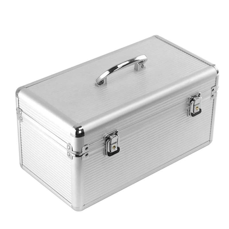 Aluminum & Eva Protection Suitcase For 8 X 3.5 & 6 X 2.5 Inch Hard Drive, Moisture Proof, Water Resistant, Static Proof, Perfe
