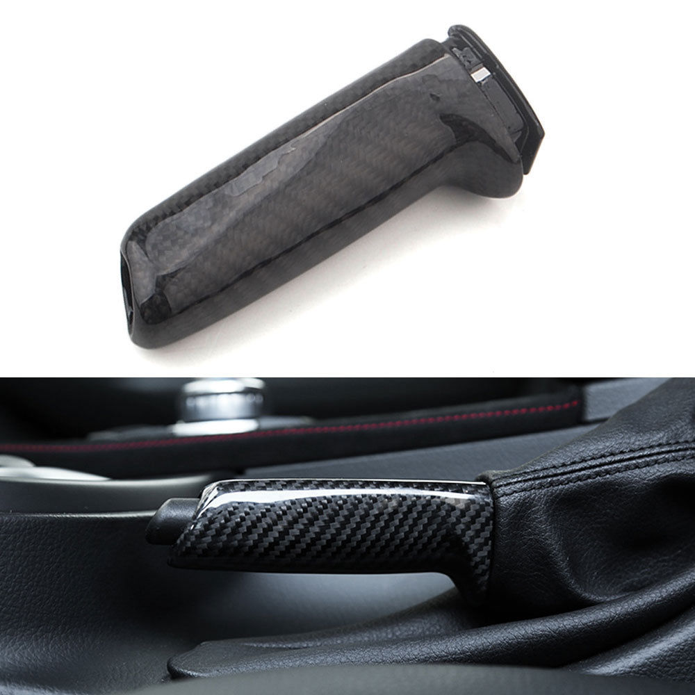 BBQ@FUKA Car Parking Handbrake Cover Trim Carbon Fiber Car Styling For BMW 3 Series F30 F35 316i 320i 320i 328i 316 335 13-2017