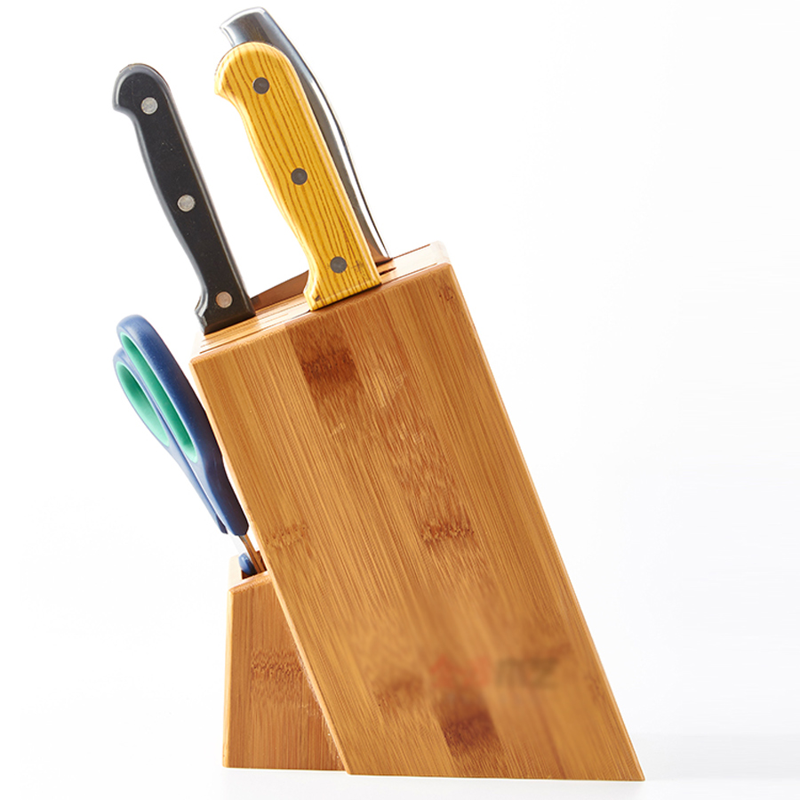 Superieur High Quality Wood Kitchen Knife Holder Multifunctional Storage Rack Tool  Holder Bamboo Knife Block Stand Kitchen Accessories In Blocks U0026 Roll Bags  From Home ...