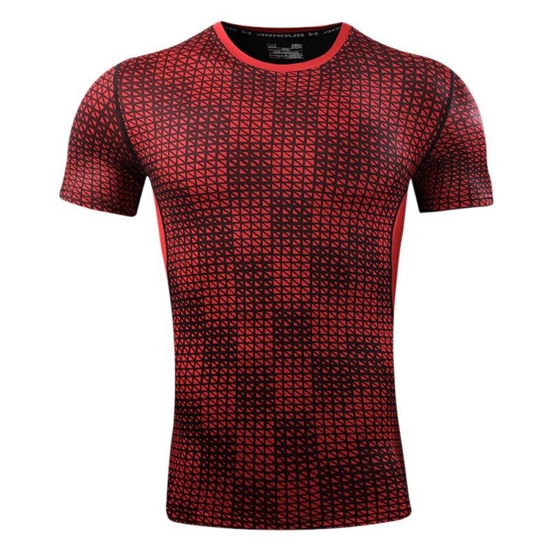 Male Summer O Neck Soft Professional Sports Training T-Shirt Comfotable Tops Short Sleeve Gym Tights Shape Sportswear
