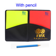 Gojoy Football referee card with wallet Professional Soccer cards plastic Sports referee red and yellow cards Wholesale