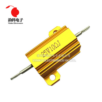 25W Aluminum Power Metal Shell Case Wirewound Resistor 0.01 ~ 30K 0.05 0.1 0.5 1 2 3 5 6 8 10 20 100 150 200 300 500 1K 10K ohm - discount item  5% OFF Passive Components