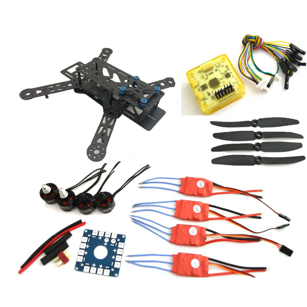 Fpv Quadcopter 250Pro Carbon  fiber Frame Super CC3d Flight Controller MT1806 2280kv motor+12A Simonk ESC Fpv Drones carbon fiber mini 250 rc quadcopter frame mt1806 2280kv brushless motor for drone helicopter remote control