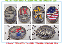 Free Shipping 2Set of, A Collection Of Rare - U.S.ARMY FORGOTTEN WAR 38TH PARALLEL CHALLENGE COIN anne ashley a lady of rare quality