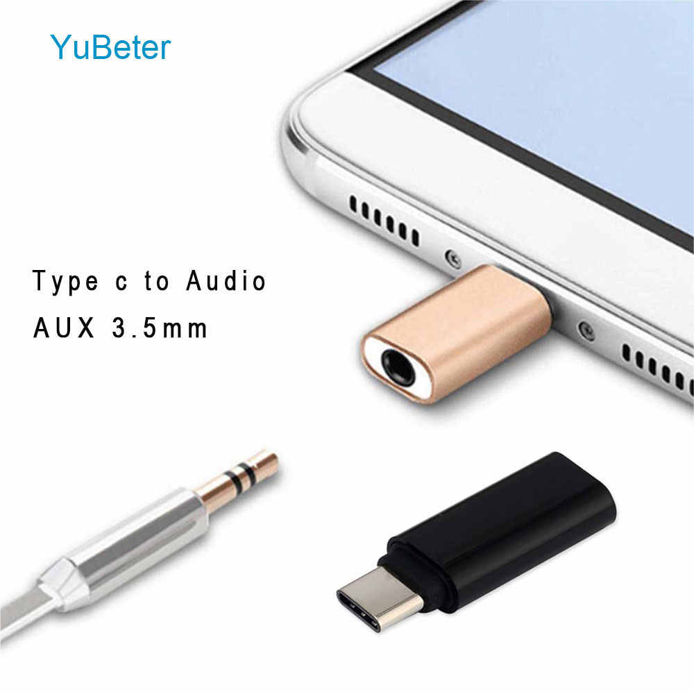 YuBeter USB C Type C to Audio USB 3.1 to 3.5mm AUX Jack Mini Portable Headset Adapter for Xiaomi 6/8 Huawei p20 LeTV 2 Nut pro