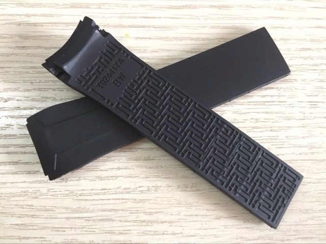 22mm T024417A Watch band Black Silicone rubber Strap Watch band for T024 T024417