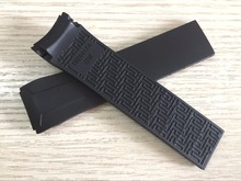 22mm T024417A Watchband Black Silicone rubber Strap Watch band for T024 T024417