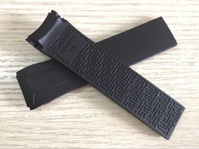 22mm T024417a Cinturino Nero Cinturino In Gomma Di Silicone Cinturino Per T024 T
