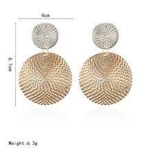 2018 Pattern Earrings for Women Vintage round Big Earrings Punk Hip Hop geometric Statement ear Jewelry wholesale e021