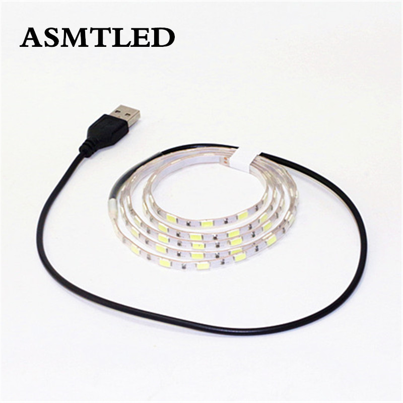 Super Bright DC 5V 1m 5630 SMD LED Flexible Strip 5mm Width 60Led/m IP67 Tube Waterproof Tape Lamp String Light With USB Cable