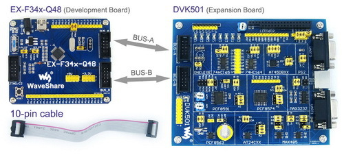EX-F34x-Q48 Premium # C8051F340 8051 Evaluation C8051F Development Board Kit + DVK501 System Tools цена