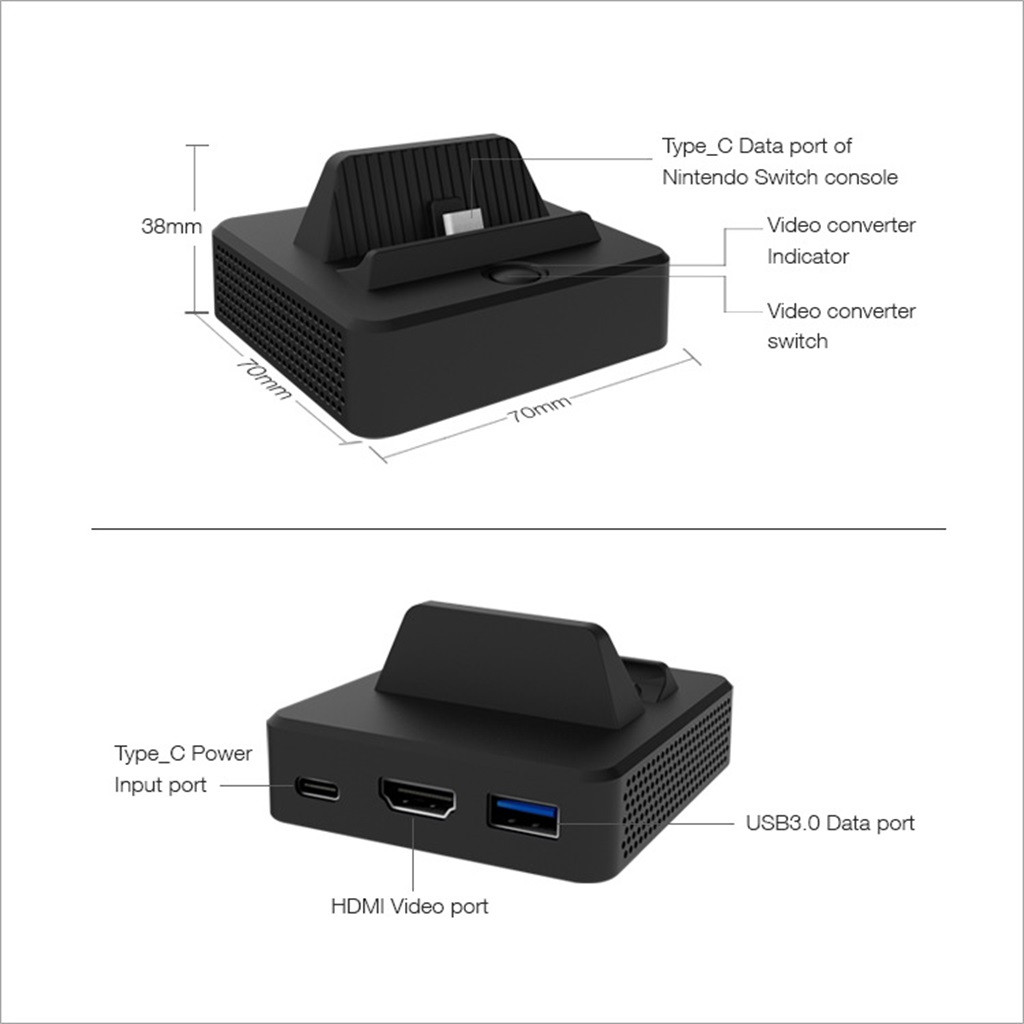 Image 5 - For Nintend Switch HDMI Video Converter Base Switch Portable TV Base Converte Gamer Games Gaming Player Console Gamepad-in Power Supplys from Consumer Electronics
