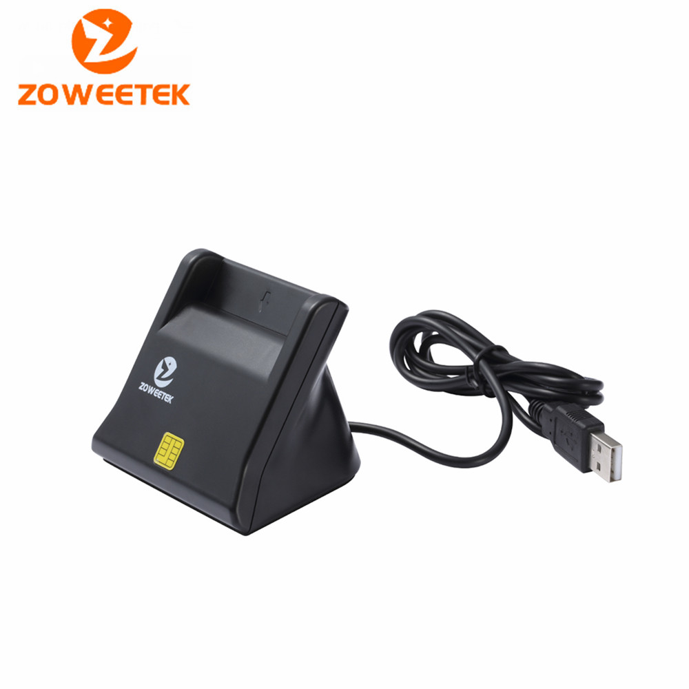 100 Zoweetek 12026 3 Smart Card Reader DOD Military USB Smart Card Reader / CAC Common Access with cable sim card adapter-in Card Readers from Computer & Office    1