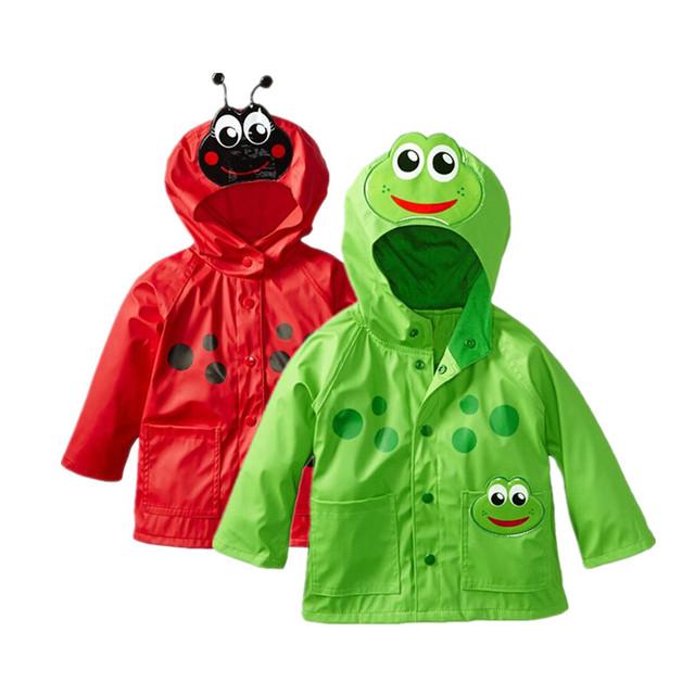 2016 Nova Casacos Meninas Casacos Crianças Moda Casaco Crianças Jaqueta de Inverno Primavera Outono jaqueta Hoodies dos miúdos capa de chuva À Prova D' Água