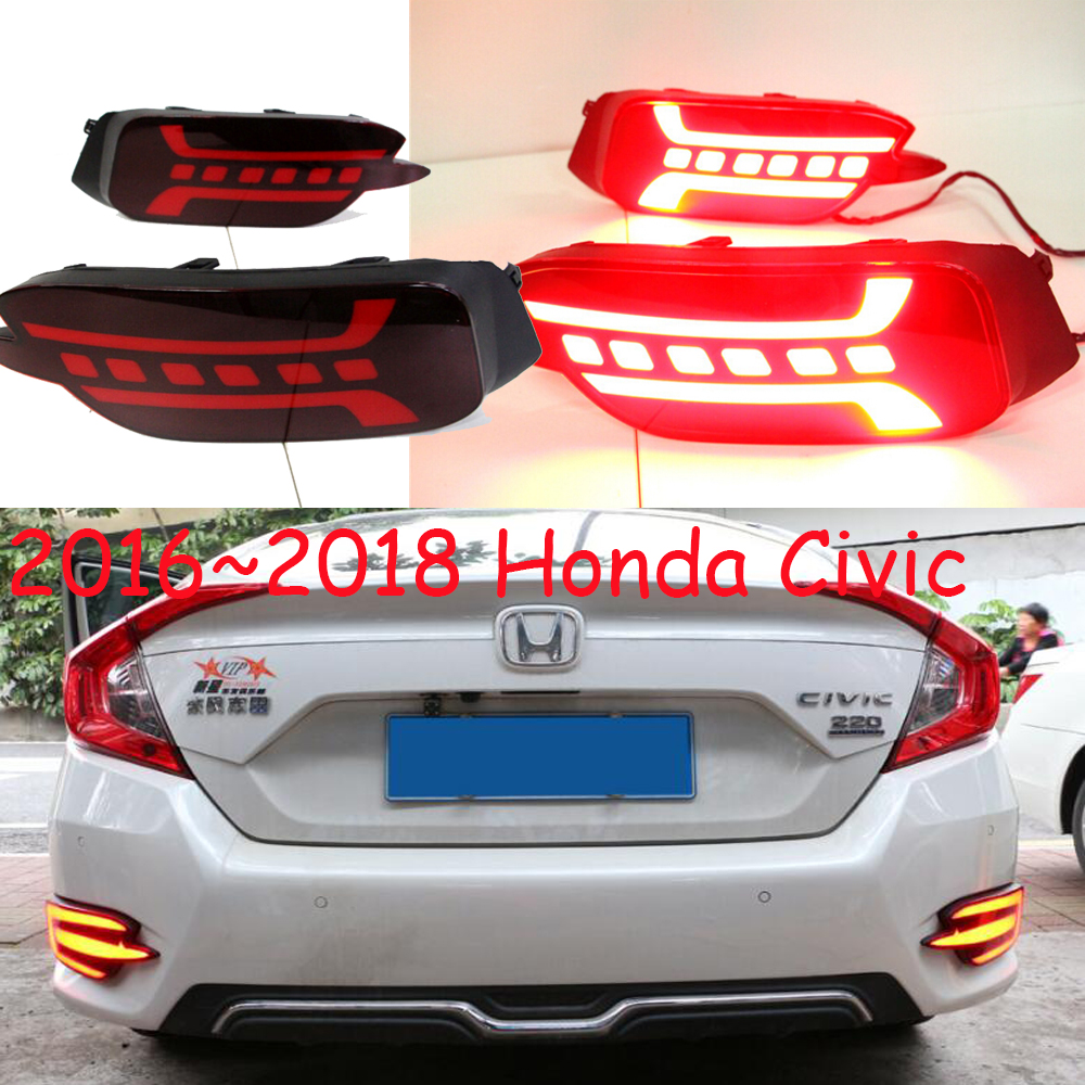 car accessories taillamp for Honda Civic Rear light LED 2016 2018y fog for Civic rear light