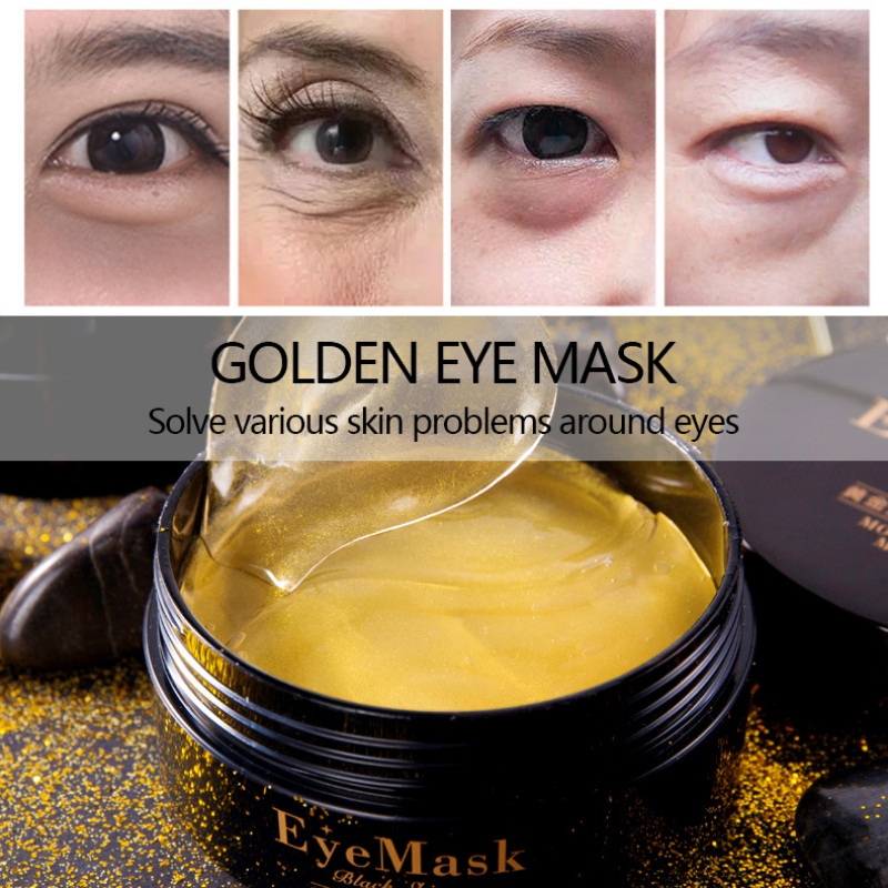 60pcs Gold Crystal Collagen Eye Mask Eye Patches Eye Mask For Face Care Dark Circles Remove Gel Mask For The Eyes