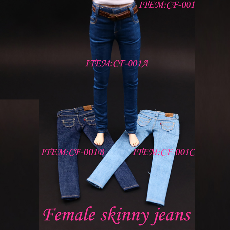 1/6 Scale Women's Clothes Annex Female skinny Jeans Tight CF001 A/B/C for 12 Inch PH Doll Jiaoudol BodyAction Figure Accessories-2