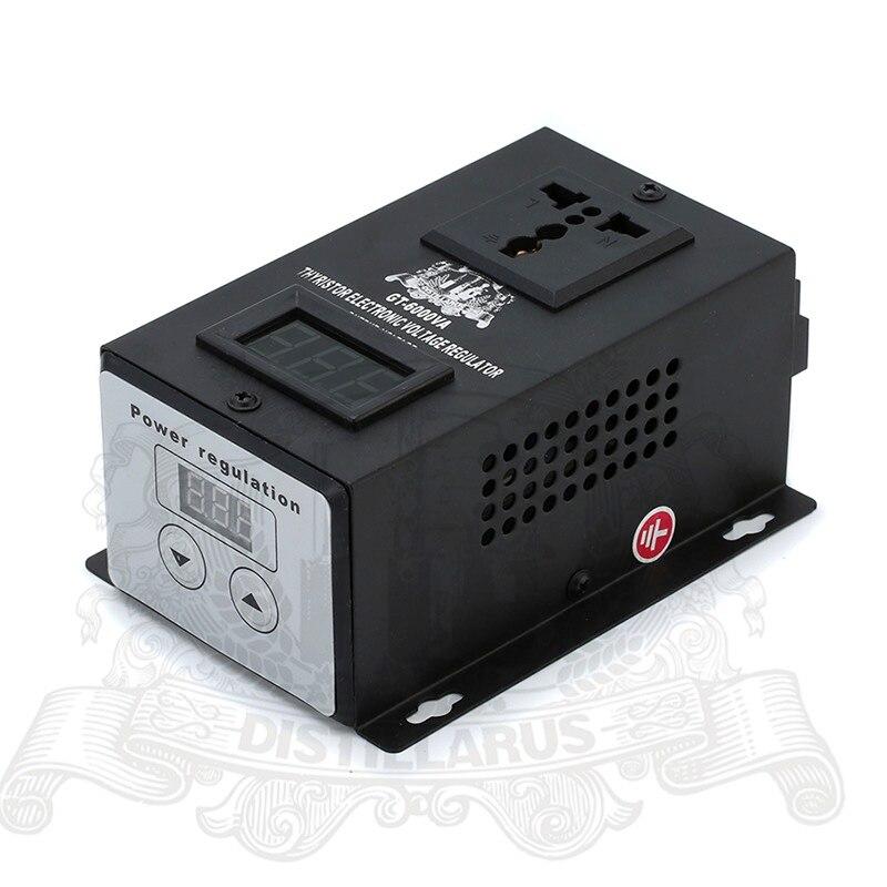 6000 Вт тиристорный электронный Напряжение Регулятор 0-220 В. Реальная Номинальная мощность 6000 Вт Однофазный 220 В 50 Гц