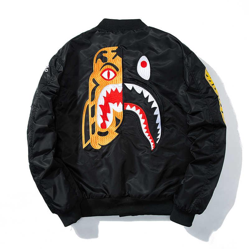 807e1fa68 Hetobeto THICK Men Bomber Jacket Hip Hop Letter Design Slim Windbreaker  Pilot Bomber Jacket Coat Men Winter Jackets Streetwear