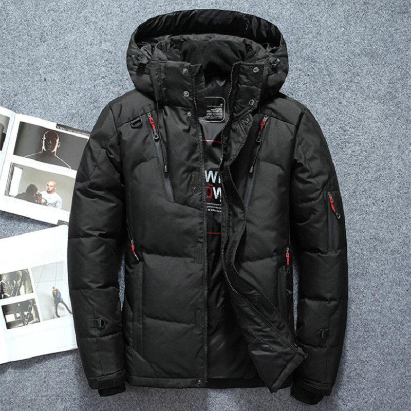 High Quality 2019 Winter Warm Thicken Zipper Coats Men's Hooded   Parkas   Casual Male Slim Zipper Multi-Pockets Overcoat Jackets