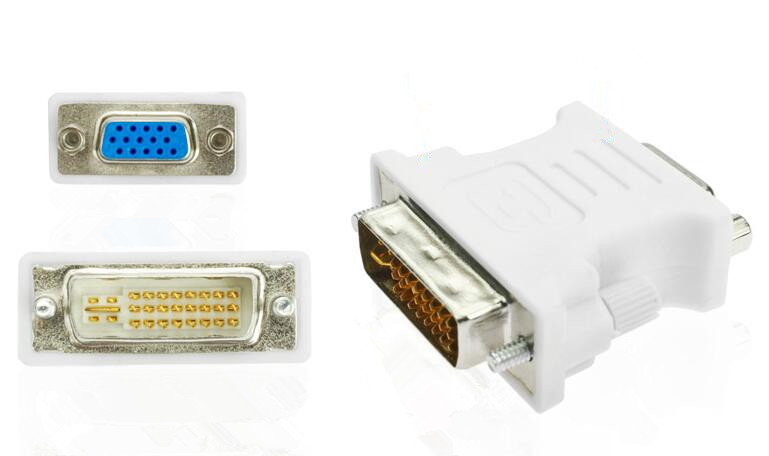 High Quality DVI To VGA DVI-I 24+5 Male to VGA Female Video Converter Adapter Connector dvi 24 5 male to component video female adapter