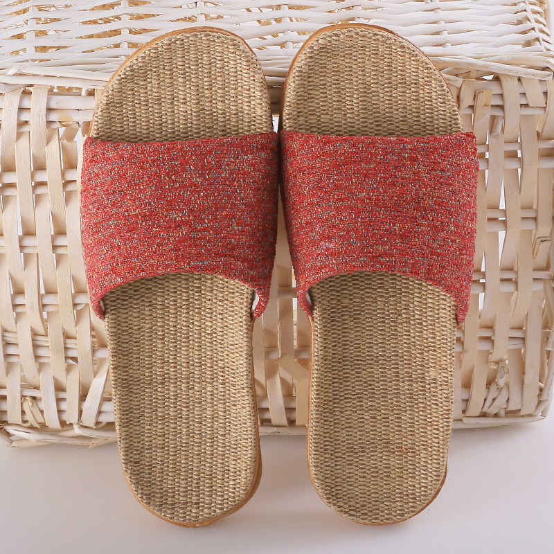 Women Indoor House Flax Slippers