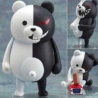 Nova quente 10cm q versão danganronpa gatilho feliz haass monokuma móvel figura de ação brinquedos coleção brinquedo de natal boneca
