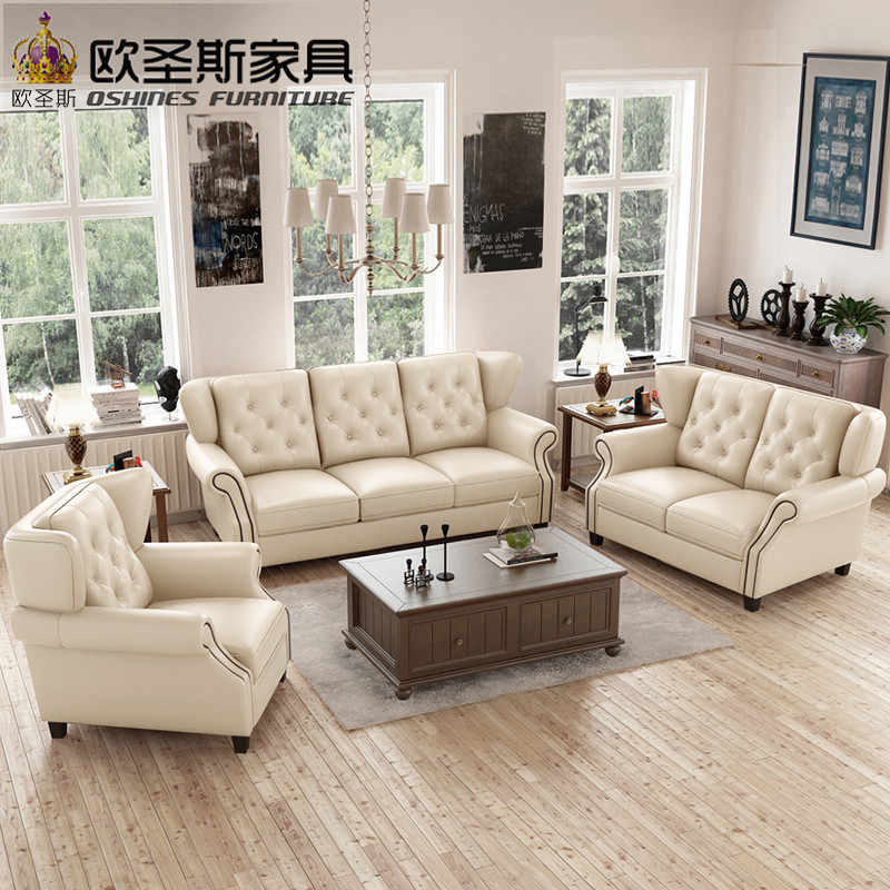 Latest Sofa Set Designs 6 Seater American Style Chesterfield New Antique Furniture Vintage Brown Leather Price F80a