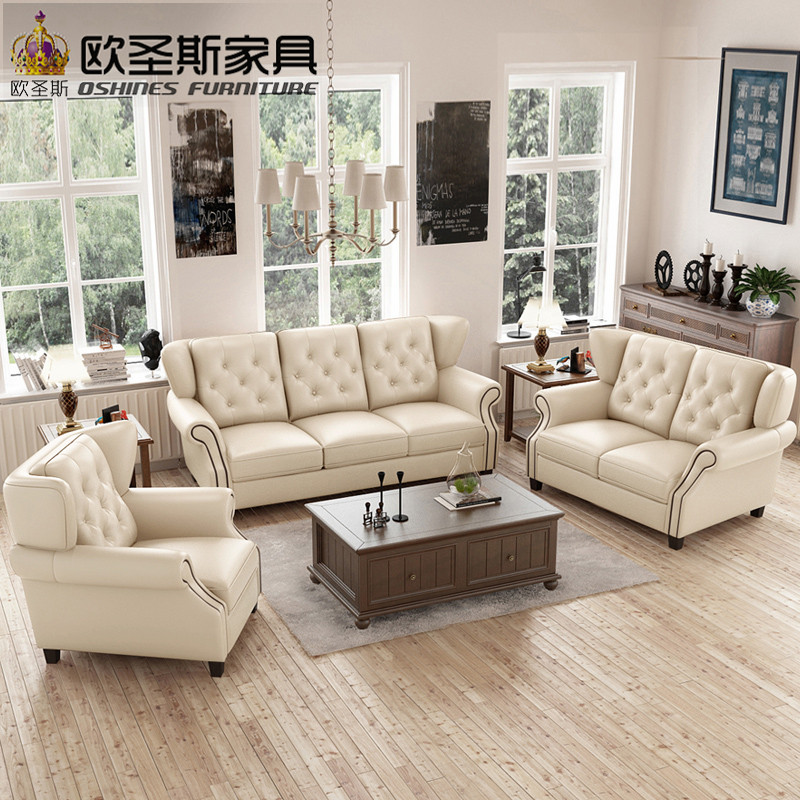Latest Sofa Set Designs 6 Seater American Style Chesterfield ...