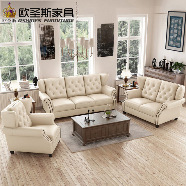latest sofa set designs 6 seater American style Chesterfield new antique  furniture vintage brown leather sofa set price F80A - Online Shop Latest Sofa Set Designs 6 Seater American Style