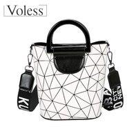 High Quality PVC Crosbody Bags Fashion Patchwork Women Bags Casual Tote Women Handbags Geometric Female Makeup